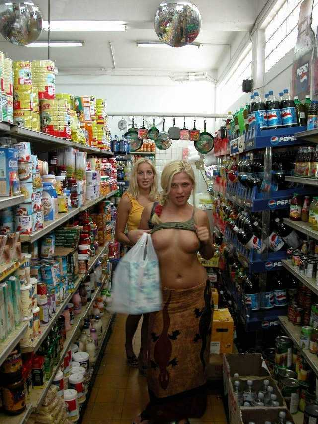 Sexy milf nude public store