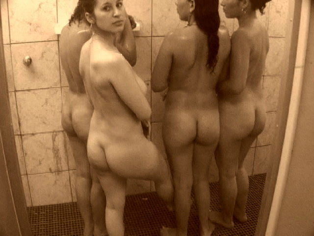 Women naked and in the shower