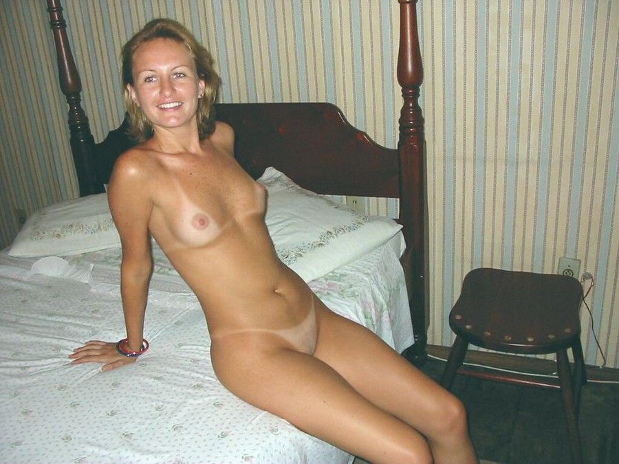 Topless small breasted women