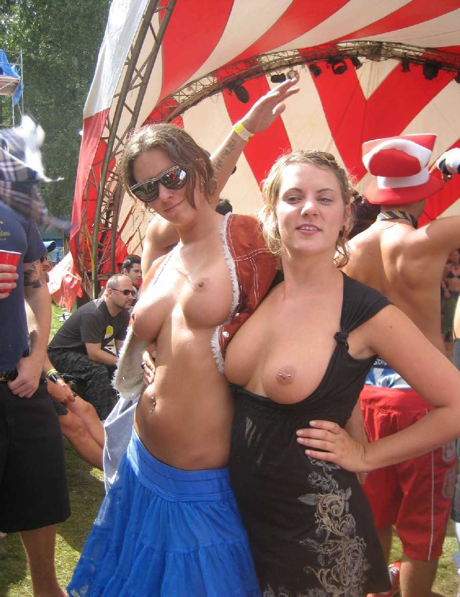 Naked tits in parade