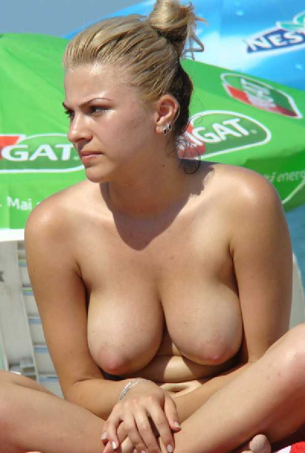Beach at Topless girls portugese the