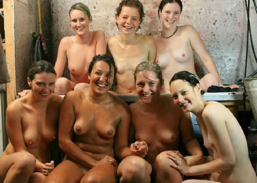 Team Girls nude volleyball