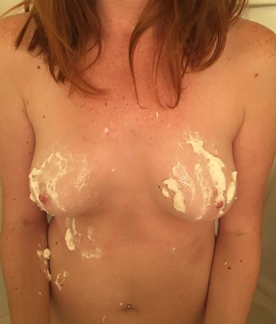 Whipped Cream on Boobs
