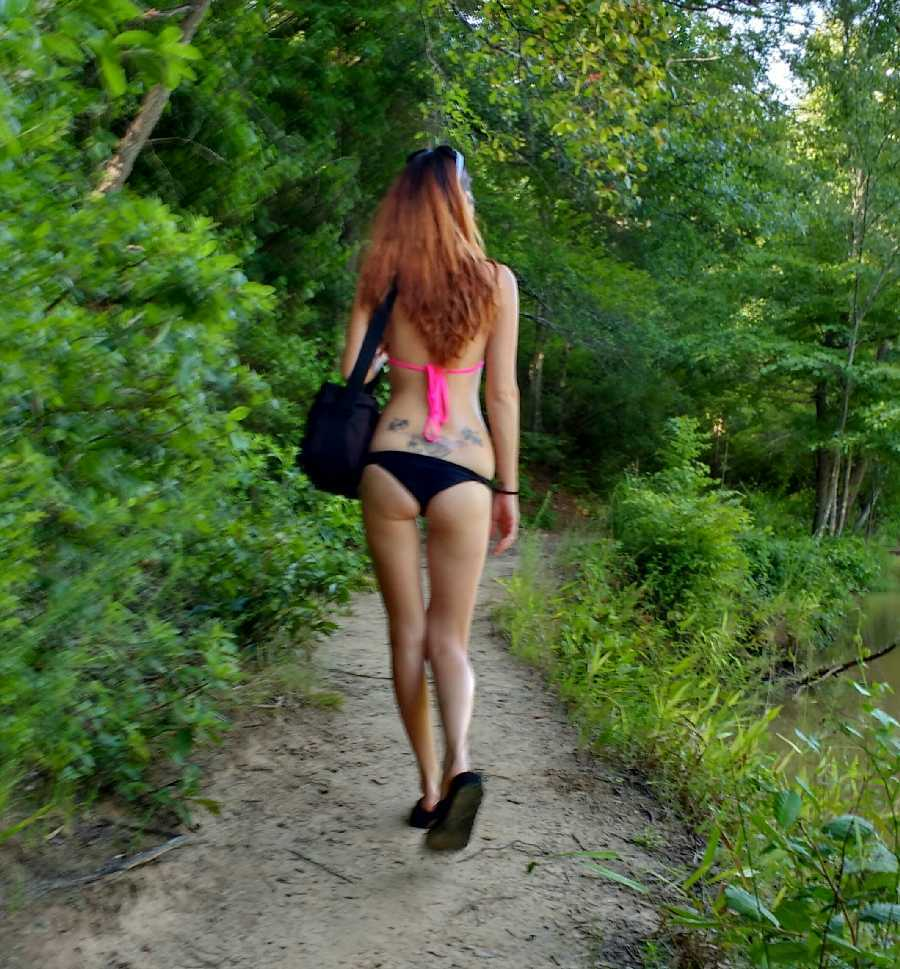 Hiking in a Bikini