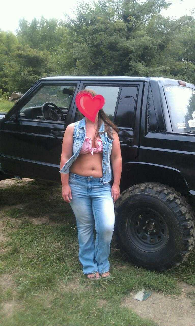 Nude wife in truck