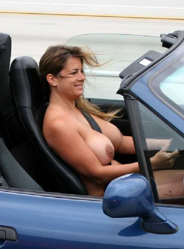Wife driving car nude for all to see