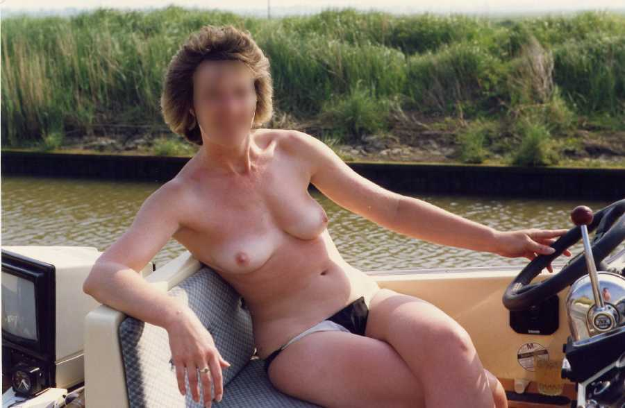 Jane Topless on a Boat